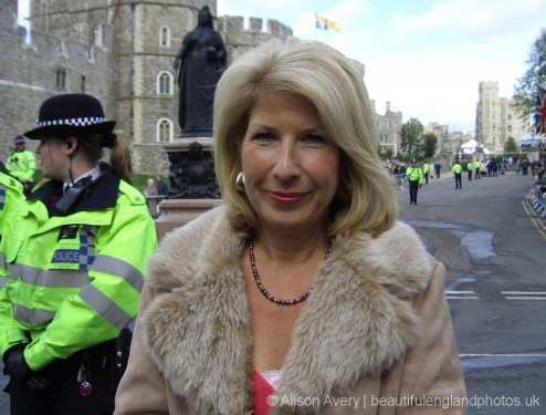 Jennie Bond, BBC Royal Correspondent, wedding of Prince Charles and Camilla Parker Bowles, Windsor. 9th April 2005