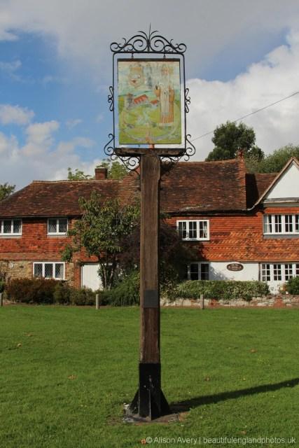 Village sign, Village Green, Brasted