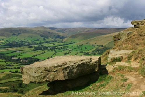High Peak and Hope Valley, from Back Tor, The Great Ridge, Peak District