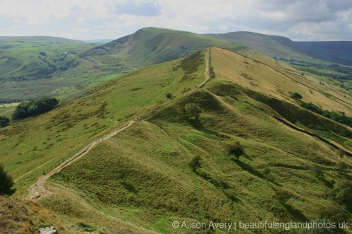 Mam Tor and The Great Ridge, from Back Tor, Peak District
