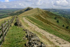 Path along The Great Ridge to Hollins Cross and Lose Hill, Peak District