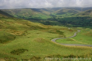 Road to Edale, from Mam Tor, Peak District