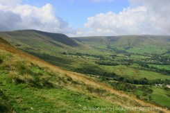 Rushup Edge and Lord's Seat, from descent of Mam Tor, Peak District