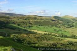 The Great Ridge, showing Back Tor and Lose Hill, from Winnats Head Farm, Castleton, High Peak