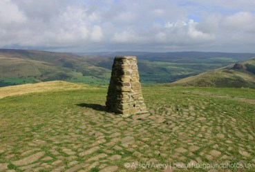 Trig Point, summit, Mam Tor, Peak District