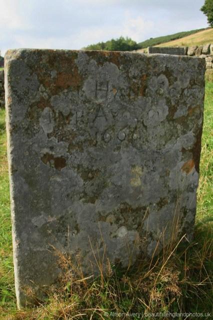 Grave of Ann Hancocke, plague victim, Bur Aug 10th 1666, Riley Graves, Eyam