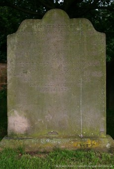 Grave of Grace, Captain James Cook's mother, All Saints Churchyard, Great Ayton