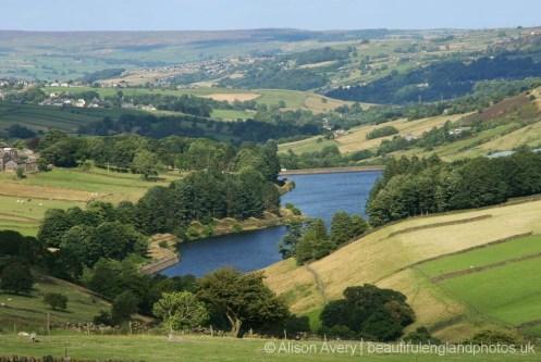 Lower Laithe Reservoir, from Haworth Moor