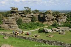Brimham Rocks, from Brimham House