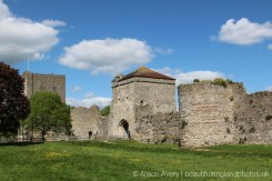 Keep, Landgate and D-shaped Roman Tower, Portchester Castle, Portchester