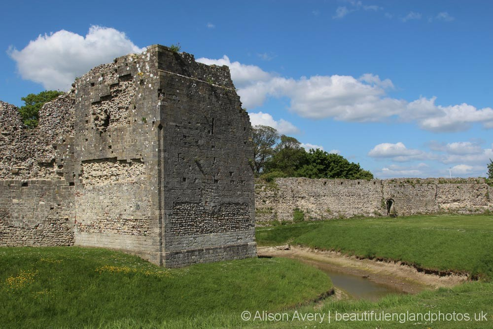 Moat, Outer Bailey, Portchester Castle, Portchester