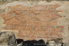 Inscription on Medieval Tiles, Titchfield Abbey, Titchfield