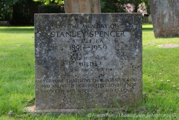Grave of Stanley Spencer, Holy Trinity Churchyard, Cookham