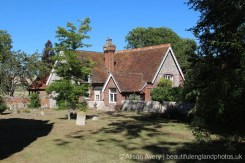 The Old School House, from St. John's Churchyard, Piddinghoe
