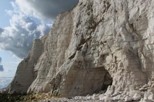 Cave in chalk cliffs, Telscombe Cliffs