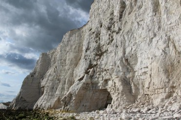 Cave in chalk cliffs, Telscombe Cliffs