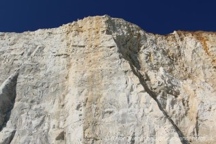 Chalk and flint cliffs, Friars' Bay, from Eastern end of Undercliff Walk, Peacehaven
