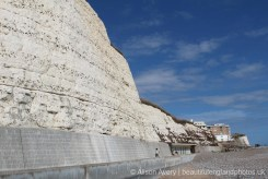 Chalk and flint cliffs, Undercliff Walk, Rottingdean