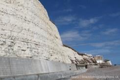 Chalk and flint cliffs, Undercliff Walk, Rottingdean