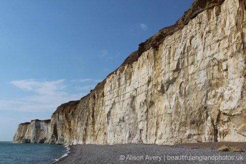Chalk cliffs, West Beach, Newhaven
