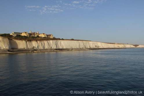 Roedean School and Undercliff Walk, from Brighton Marina, Brighton