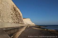 Sea wall, from beach, Peacehaven