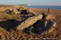 Concrete remains, Tide Mills Beach, near Newhaven