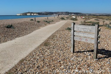 Path through Tide Mills, near Newhaven