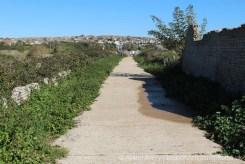 Path to Bishopstone Beach Halt Station, Tide Mills, near Newhaven