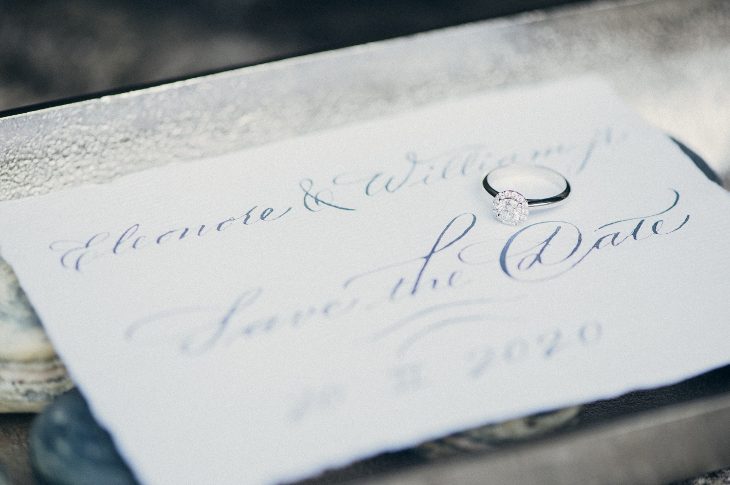 Wintery Wedding Invitations Beautiful Letters Calligraphy 5