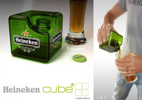 Square Heineken Bottle