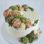 Buttercream Succulent Cakes By Leslie Vigil