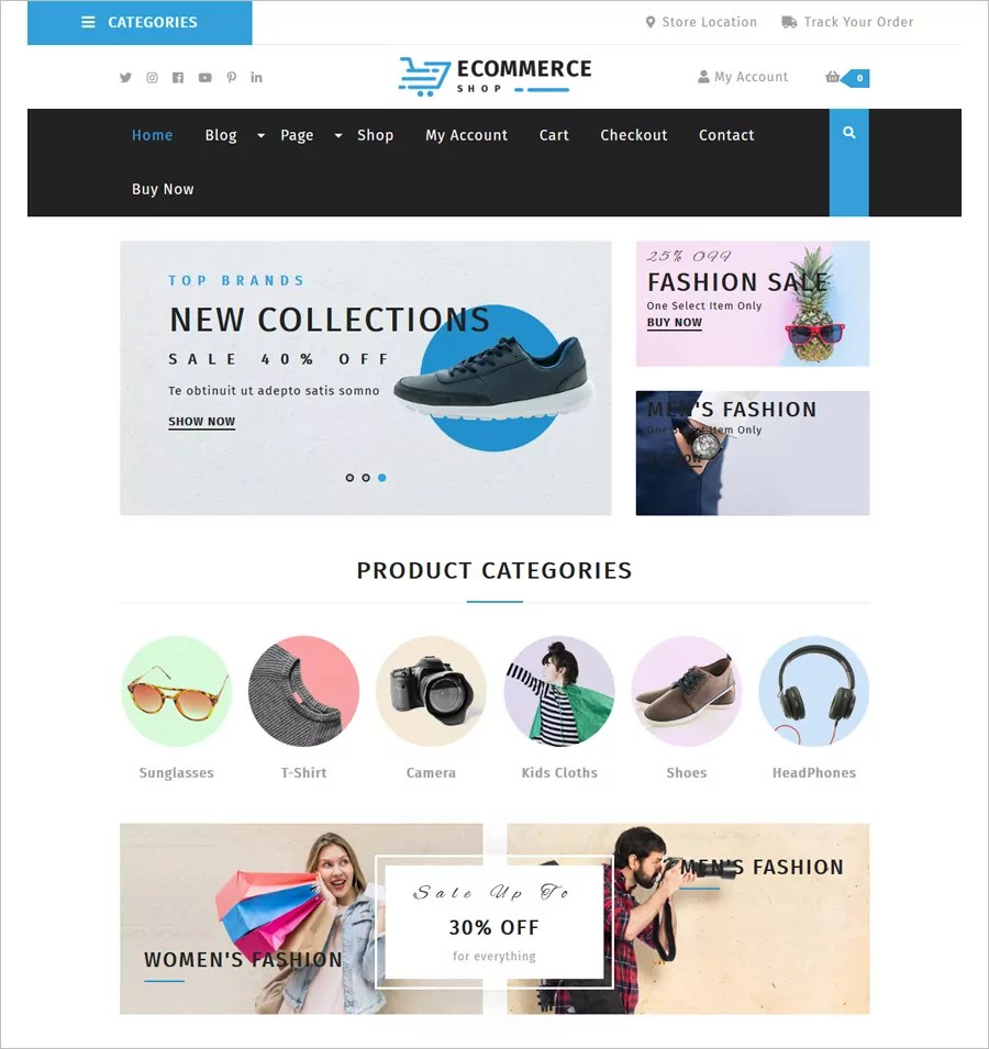It is fully responsive free ecommerce website templates and easily usable. 30 Free Online Shopping Cart Website Templates Free Download With Css