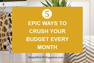 It's easy to get discouraged if things don't go exactly as planned. These few simple tips will help keep your head up and your crush your budget.