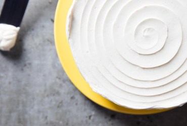 This light and silky buttercream is none too sweet and beautifully stable at room temperature. It's the perfect vanilla frosting for layer cakes.