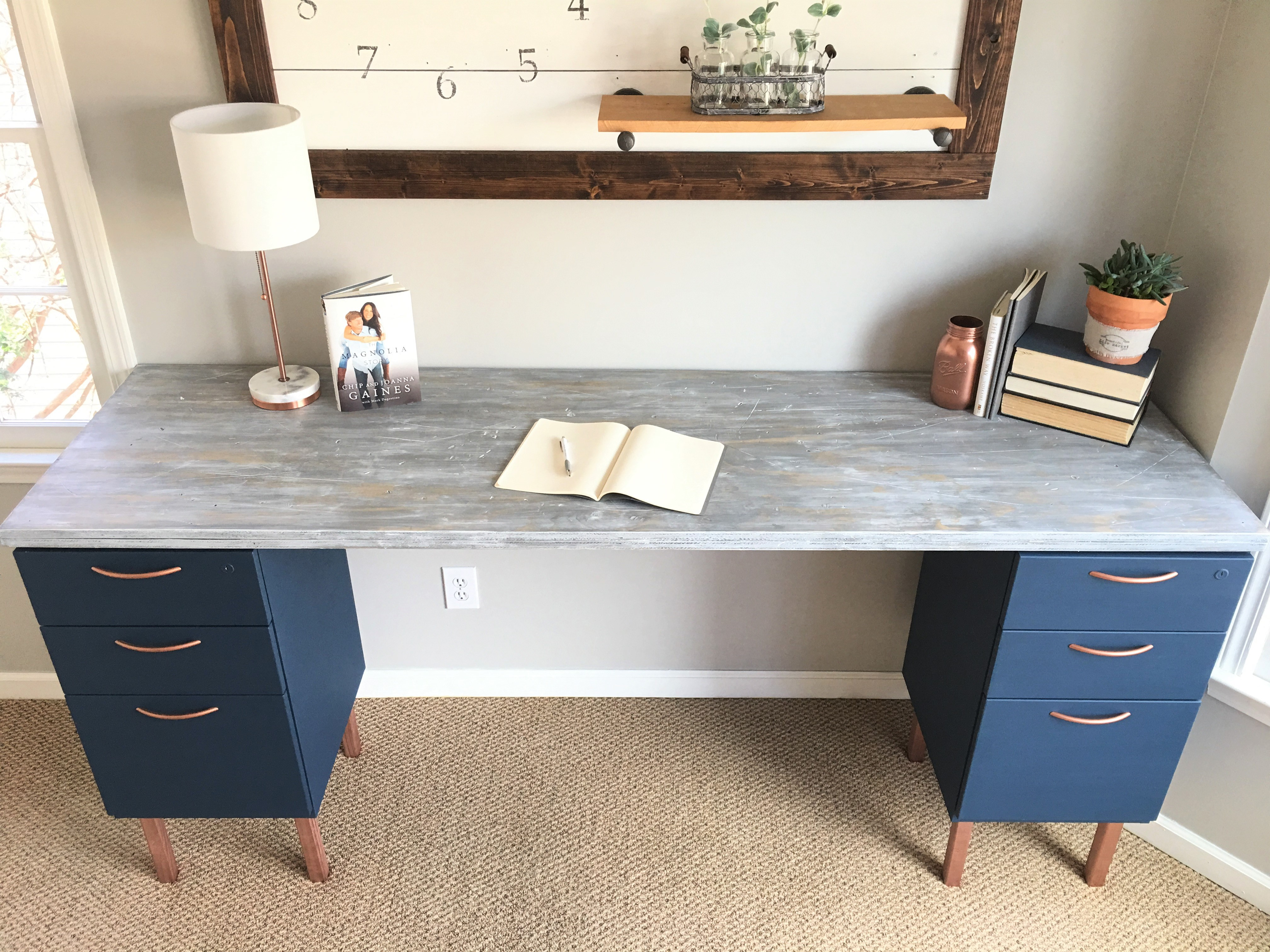 ugly home office makeover part 5 the diy file cabinet desk and rh beautifullifemarket com filing cabinet desk diy filing cabinet desk ideas