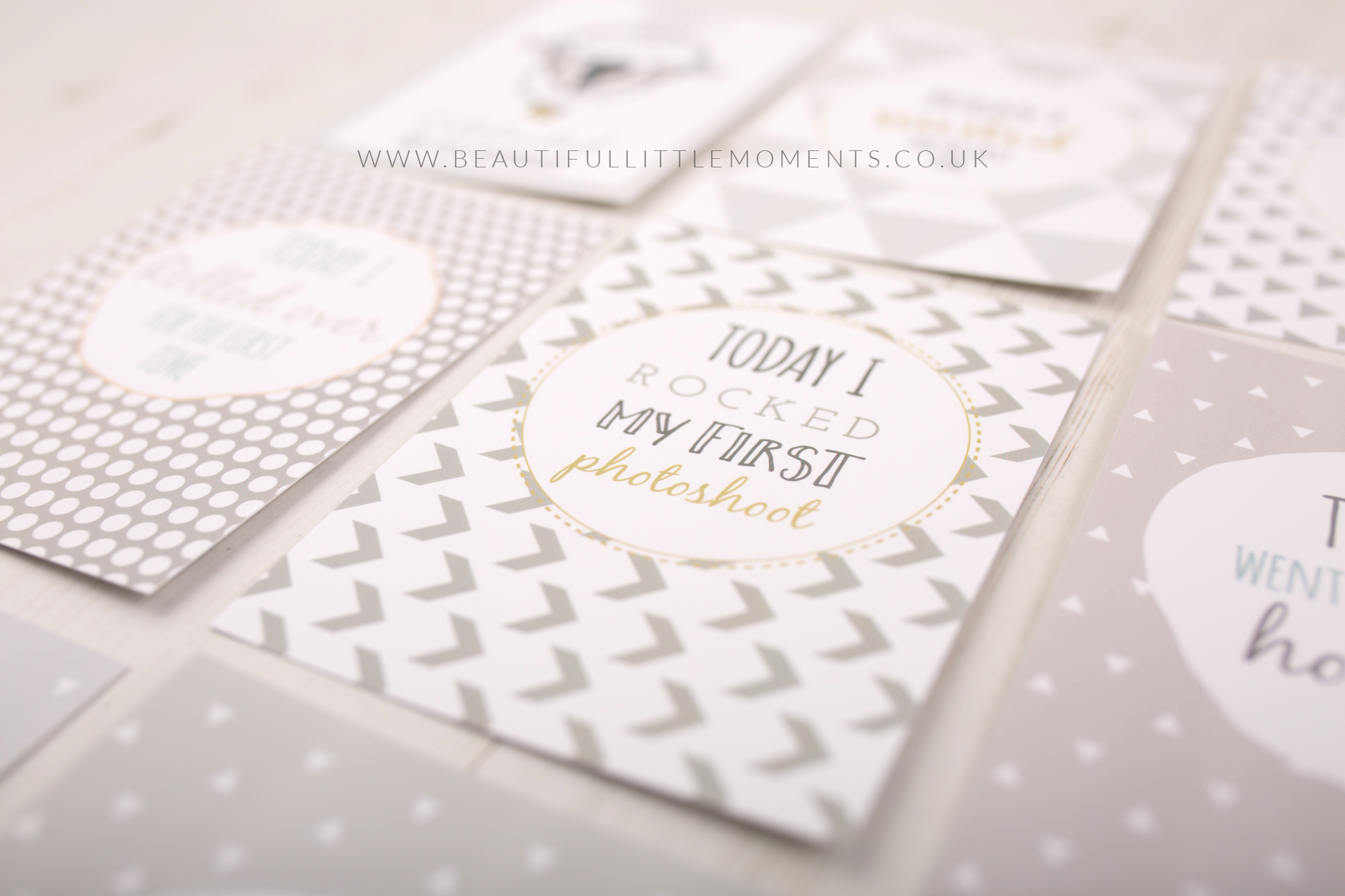 milestone cards grey