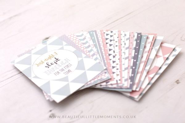multi colour milestone cards
