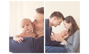 lifestyle photoshoot with baby boy and parents