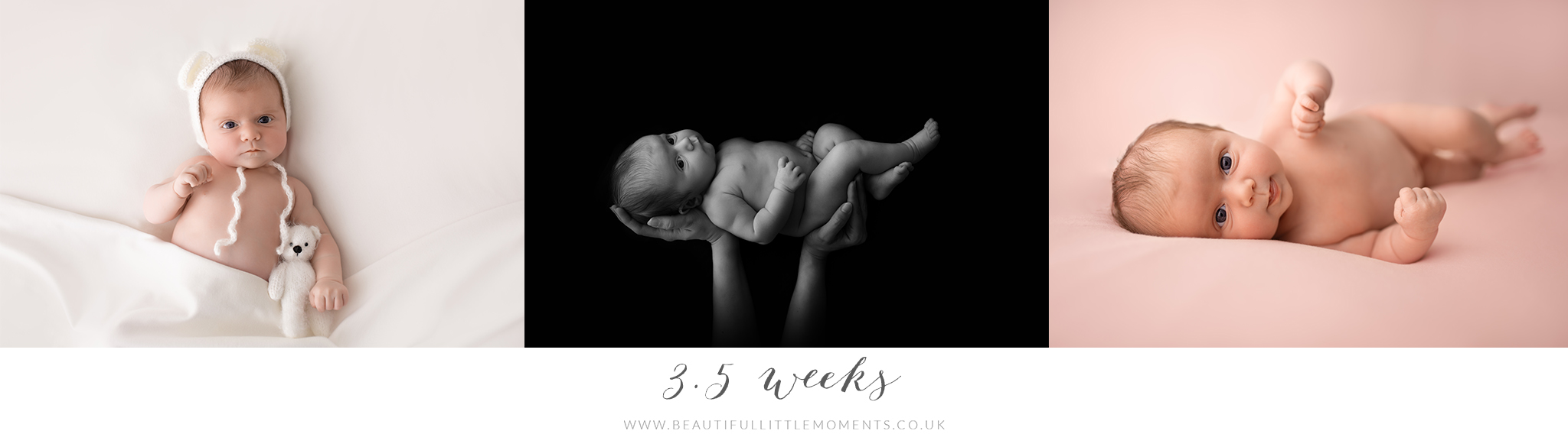 baby photos 3.5 weeks