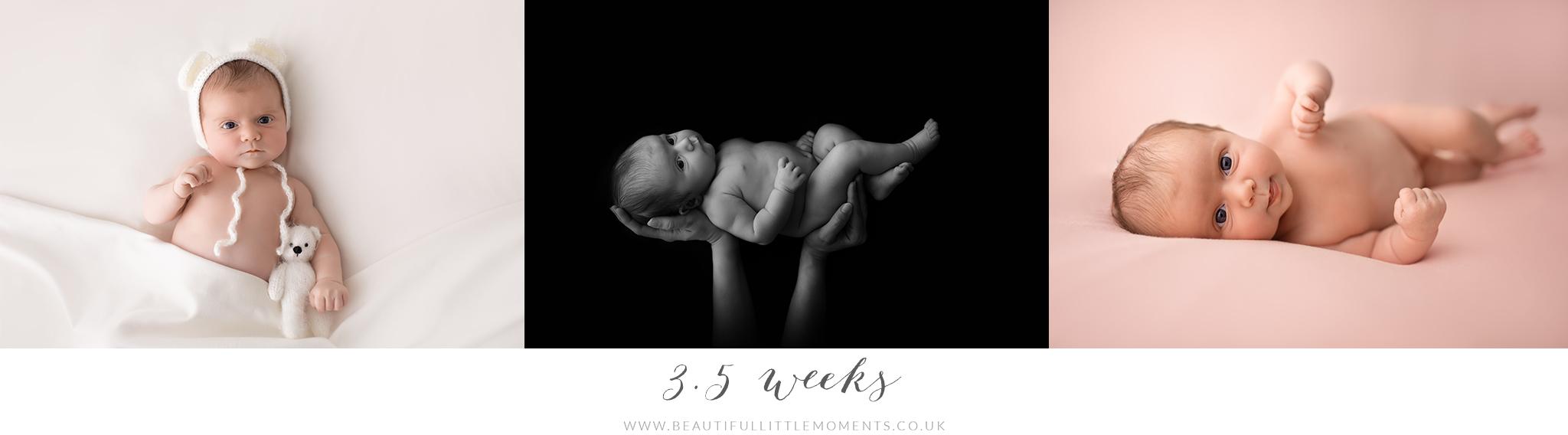 baby photos 3.5 weeks