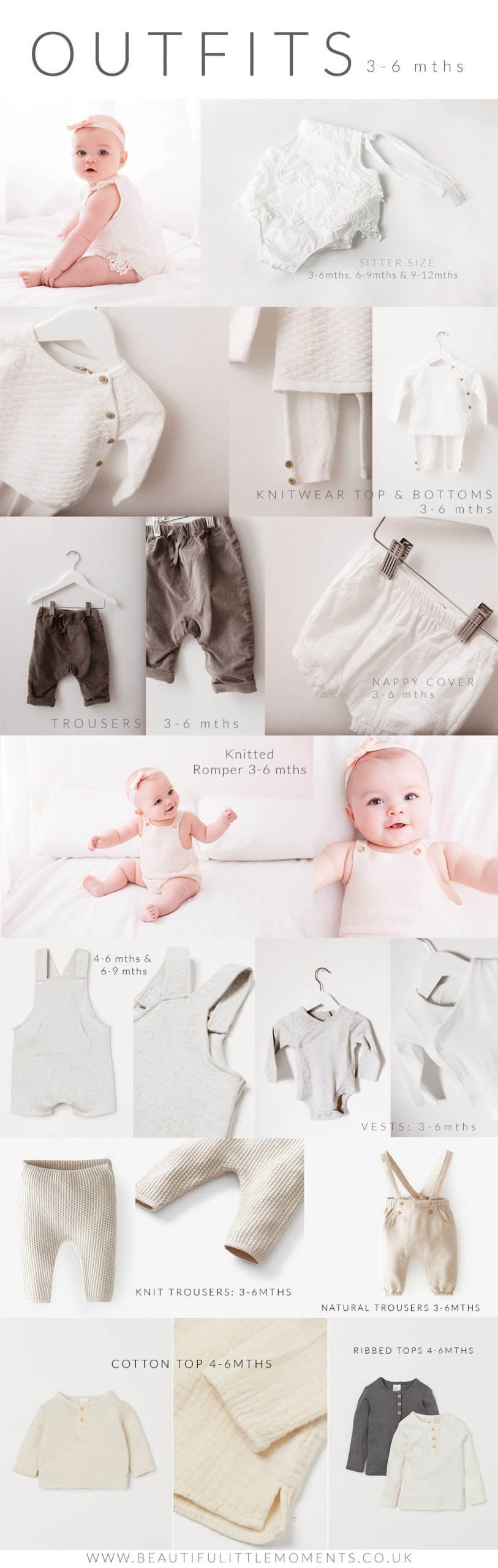 photography outfits available for 3-6month olds