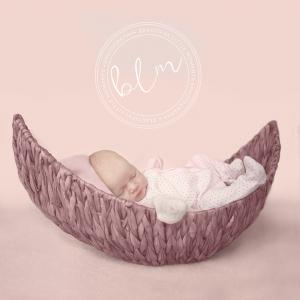 Baby Girl moon Basket Pink