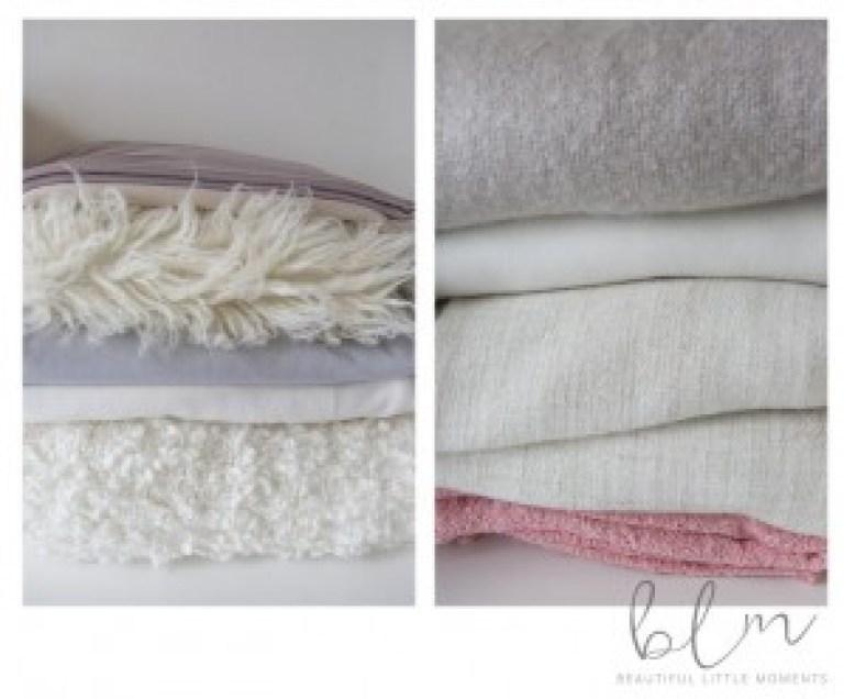 Variety of blankets
