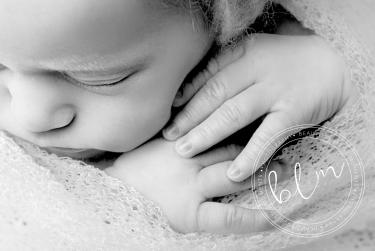 newborn baby photo black and white close up
