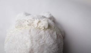 headband - cream-bow