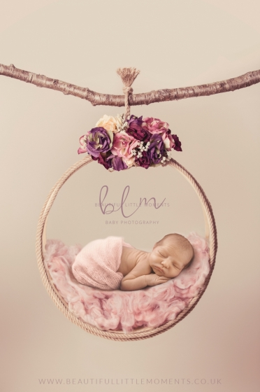 newborn-baby-portrait-pink-hoop-epsom-surrey
