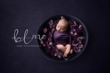 newborn-baby-purple-bowl-flowers-epsom-surrey