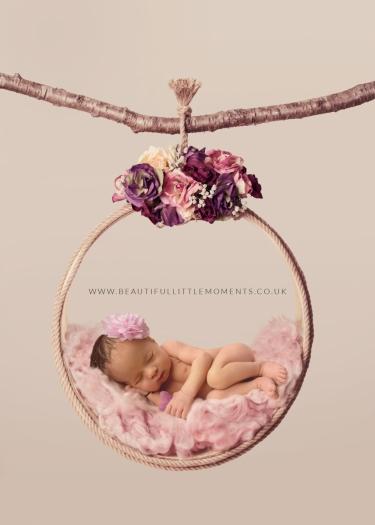 newborn baby girl pink