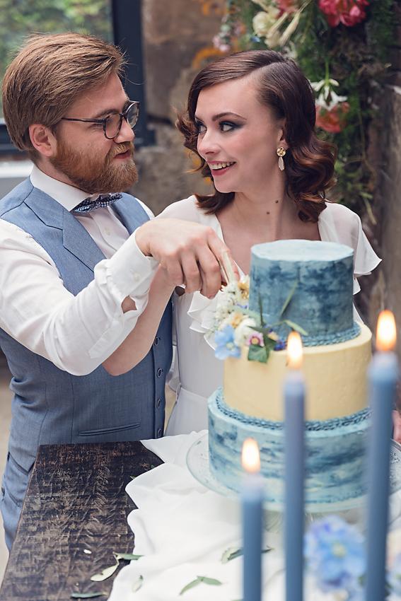 Dusty Blue Bruiloft